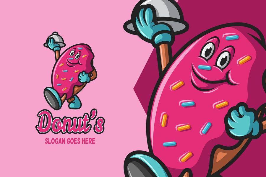 Donut Mascot Logo
