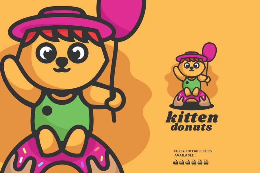 Donut Multimedia Branding Logotype