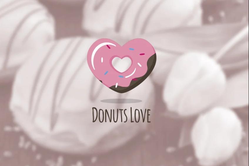 Donuts Love Branding Design