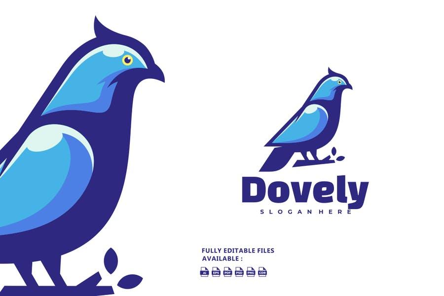 Dove Mascot Logo Design