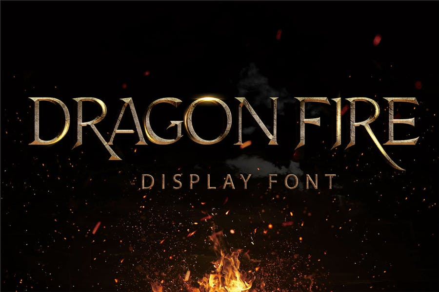 Dragon Fire Display Typeface