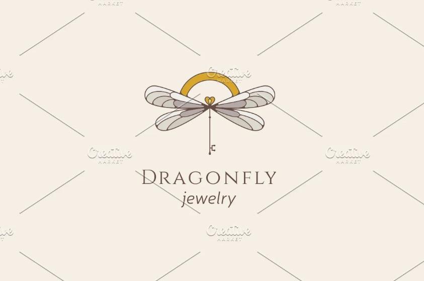 Dragon Fly Jewelry Logo Design