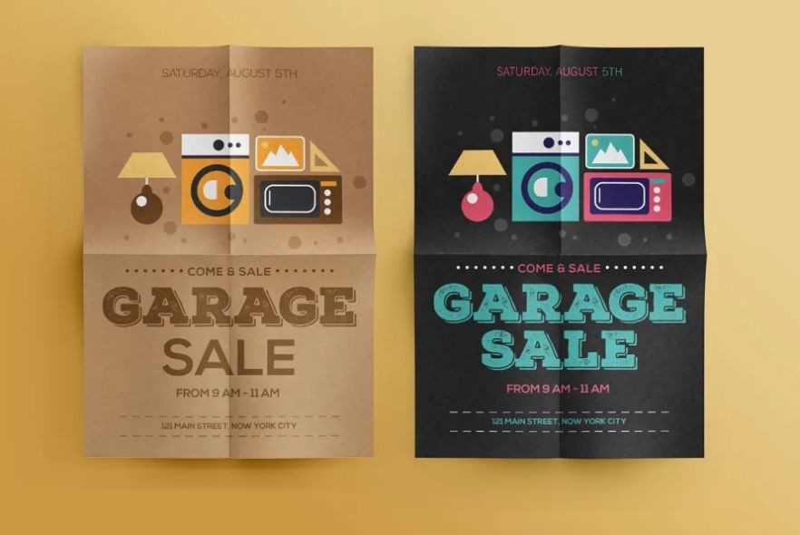 Drive Way Sale Flyer Template