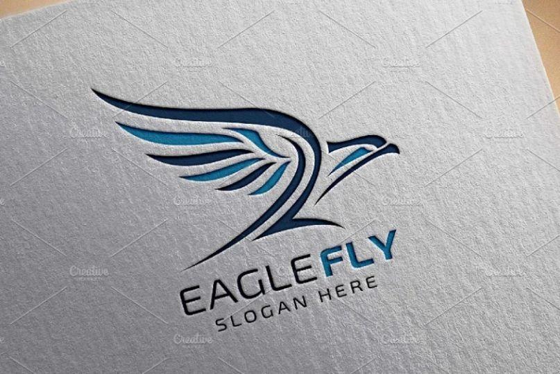 Eagle Fly Logo Template