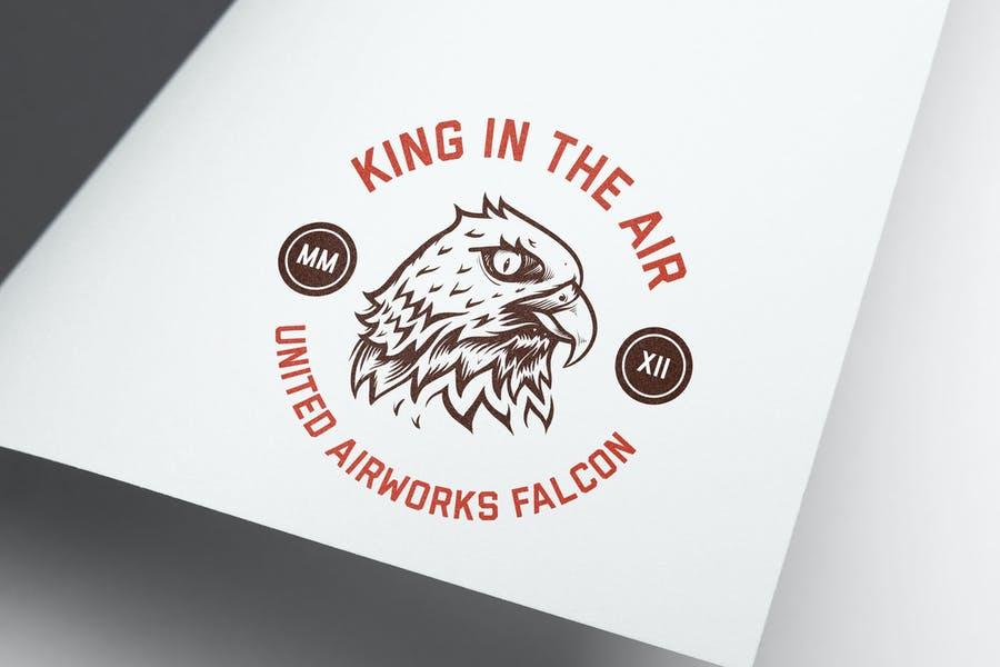 Eagle Themed Circular Logo