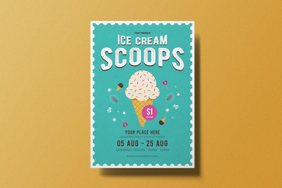 Easy Editable Ice Cream Flyer