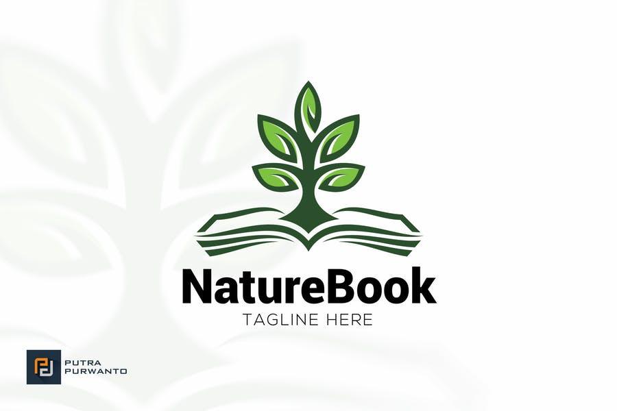 Eco Book Logo Template