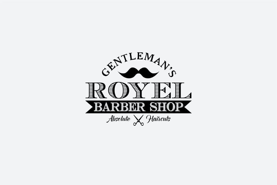 Editable Barber Shop Logotype