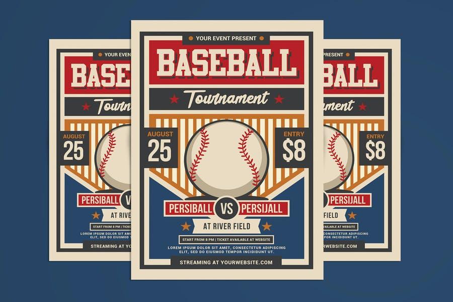 Editable Baseball Night Flyer