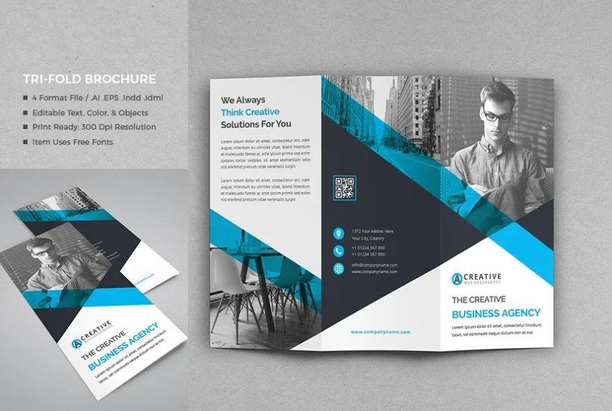 Editable Corporate Tri Fold Brochure Template