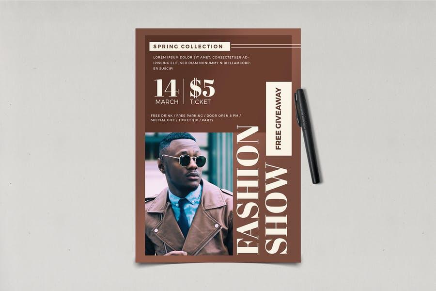 Editable Fashion Flyer Design