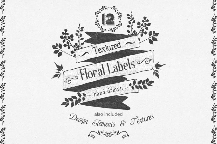 Editable Floral Logo Elements