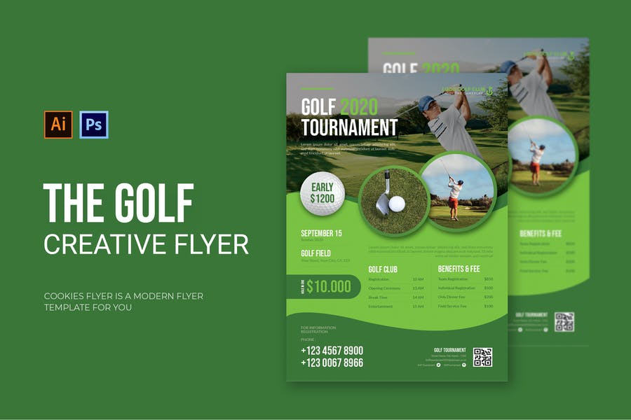 Editable Golf Flyer Designs