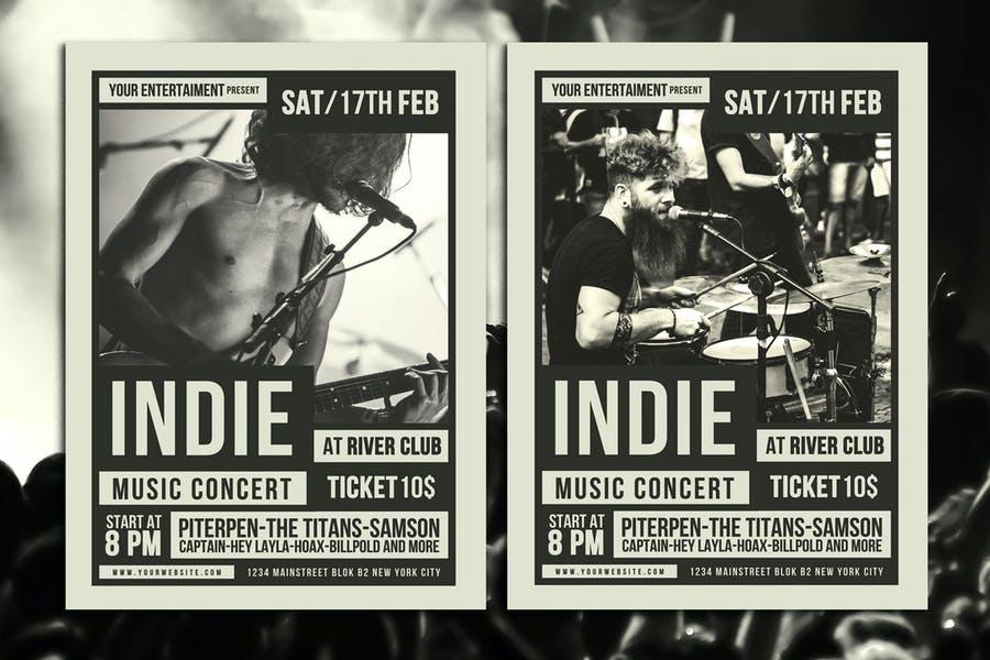 Editable Music Concert Flyer Design