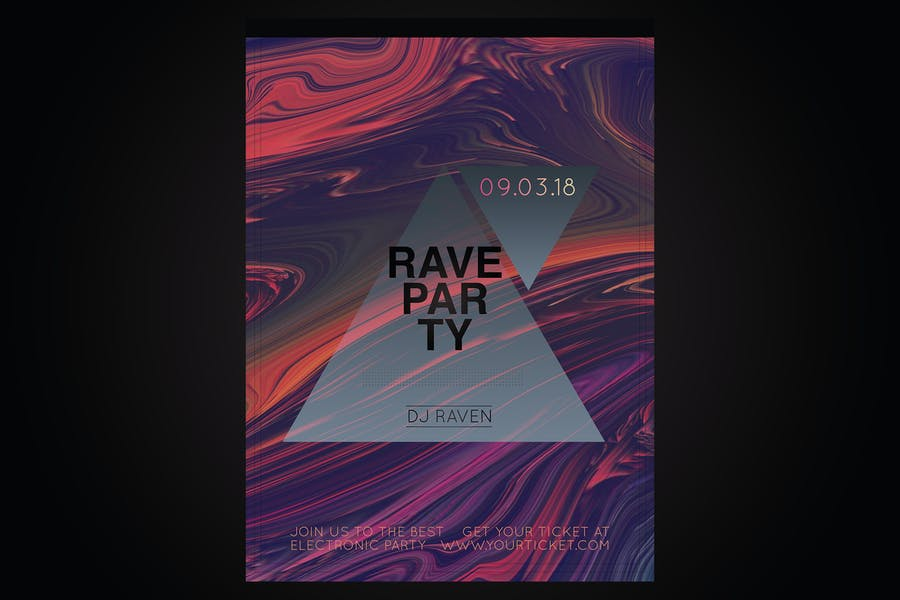 Editable Rave Party Templates