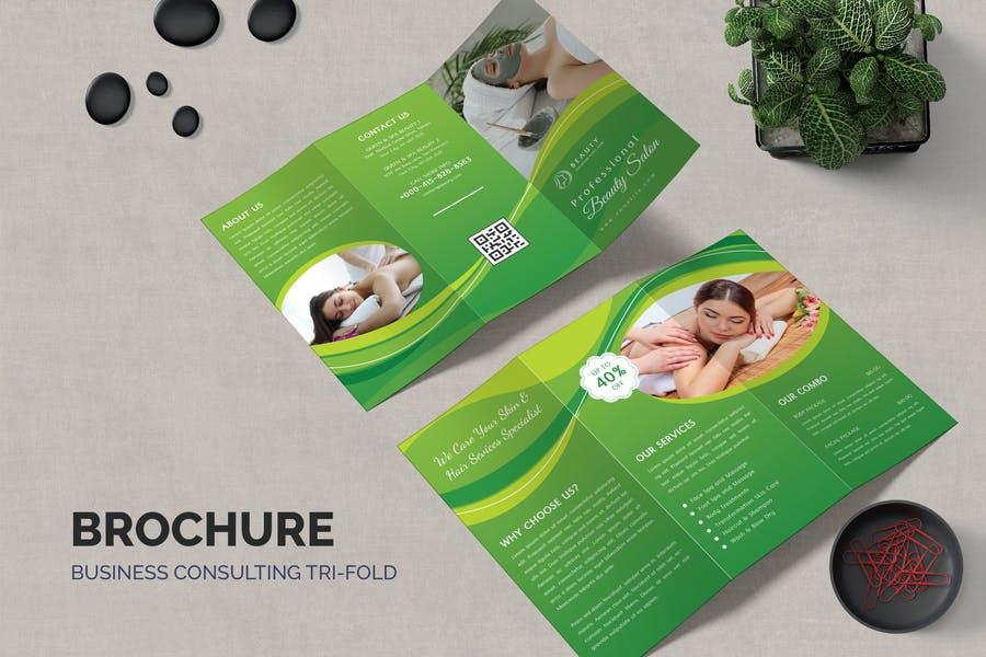 Editable Spa Brochure Template