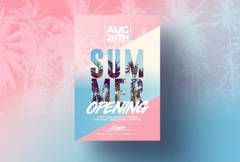 Editable Summer Flyer Design