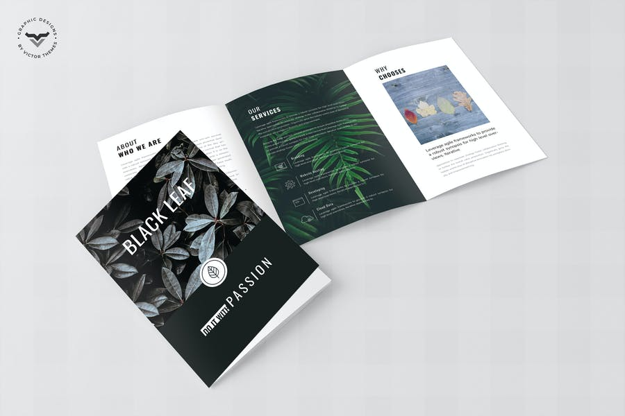 Editable Tri Fold Business Brochurw