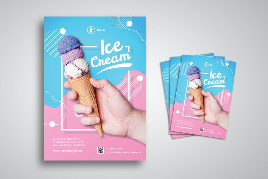 Editable Ice cream Promo Flyer