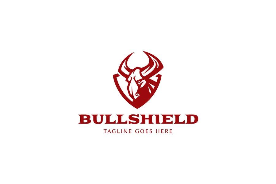 Editable Bull Shield Logotype