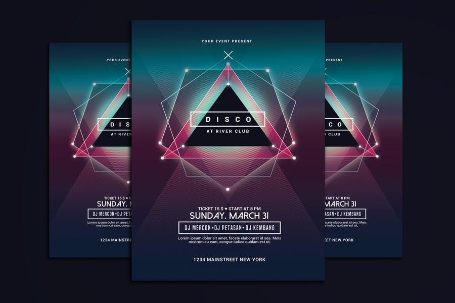 Electro Music Flyer Design