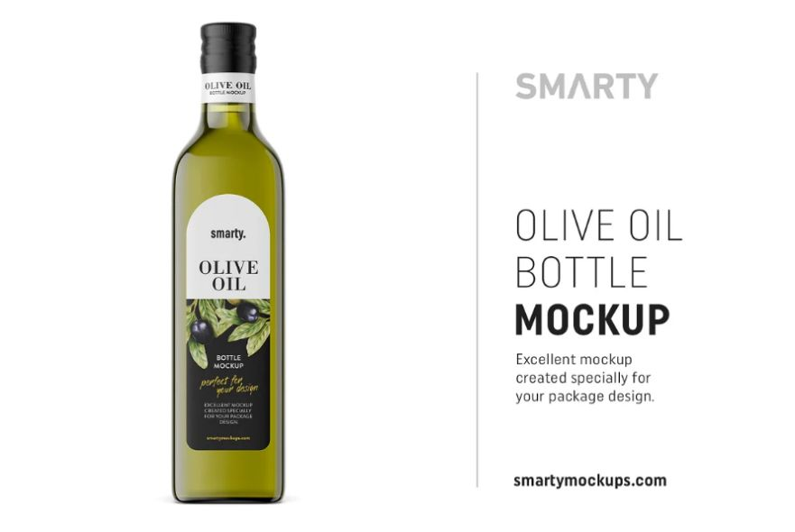 Elegant Olive Oil Packaging Mockup