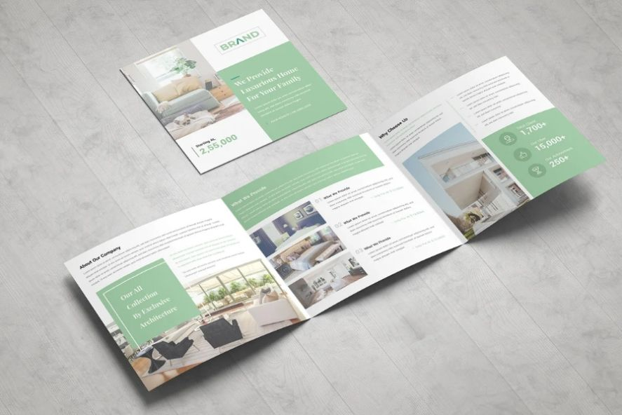 Elegant Real Estate Tri Fold Brochure Template