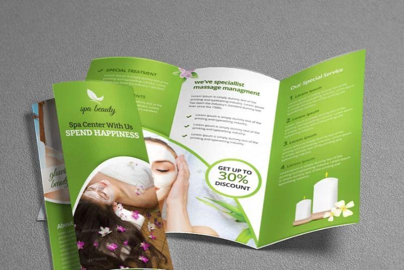 Elegant Spa Tri Fold Brochure Template