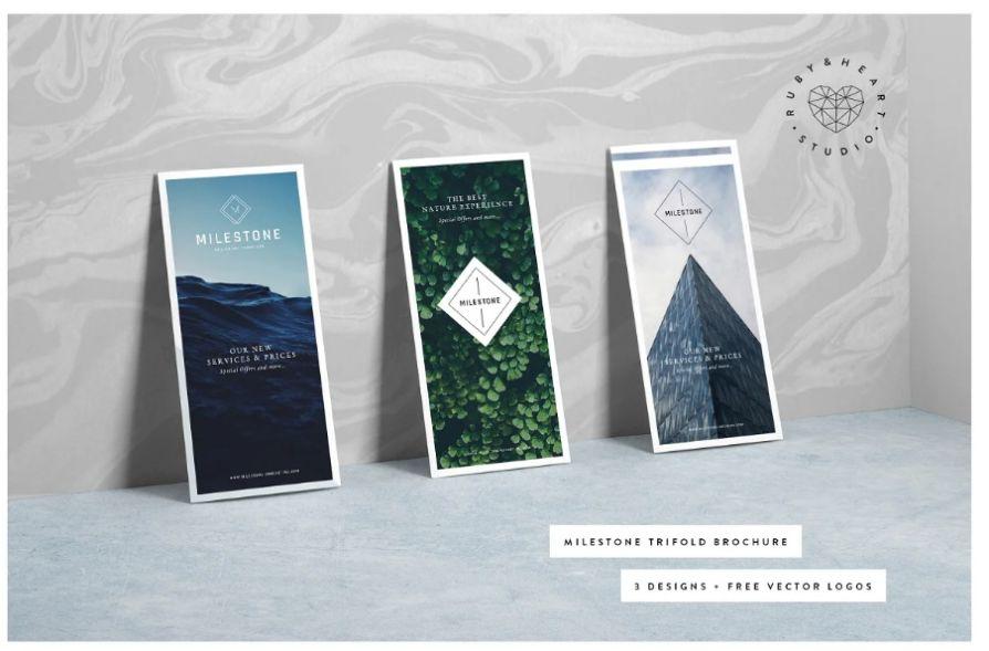 Elegant Tri Fold Brochure Template