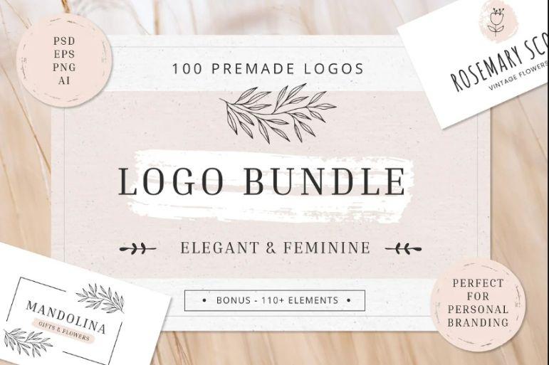 Elegant and Feminine Wedding Logos