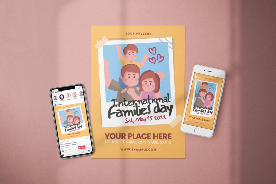 Families Day Flyer Set