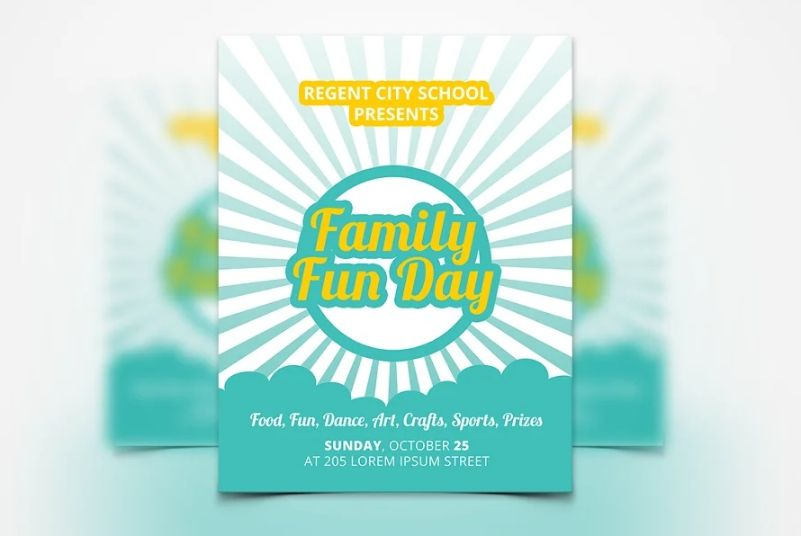 15+ Best Family Fun Day Flyer Template Download