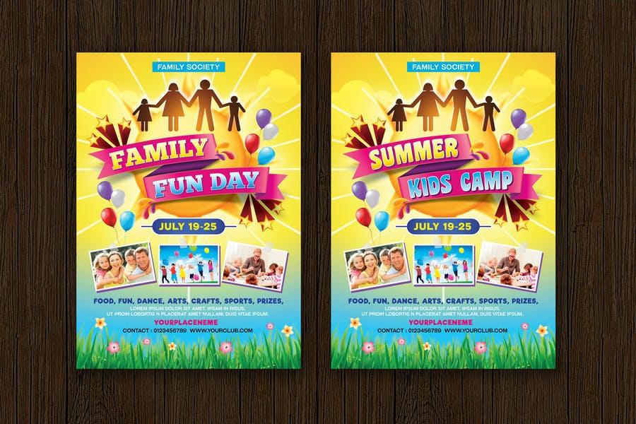 Family Fun Camp Flyer