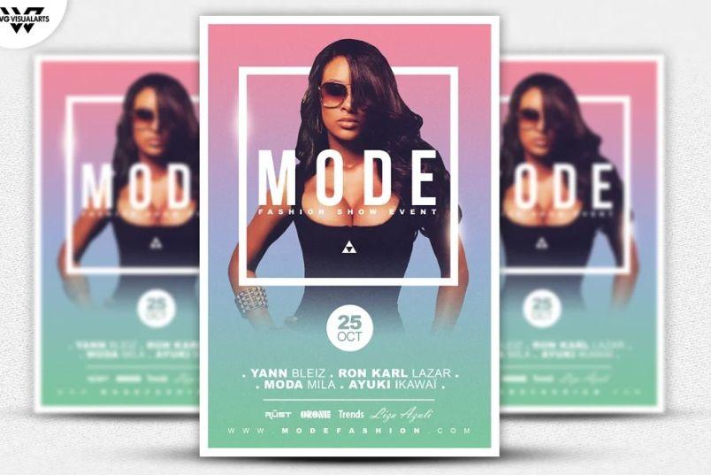 Fashion Model Flyer Design