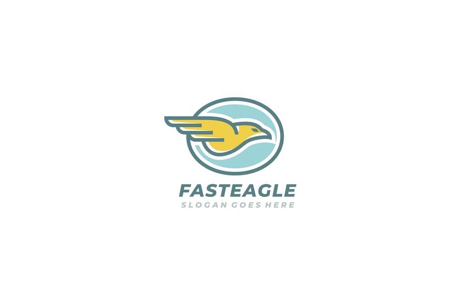 Fast Eagle Logo Design Template