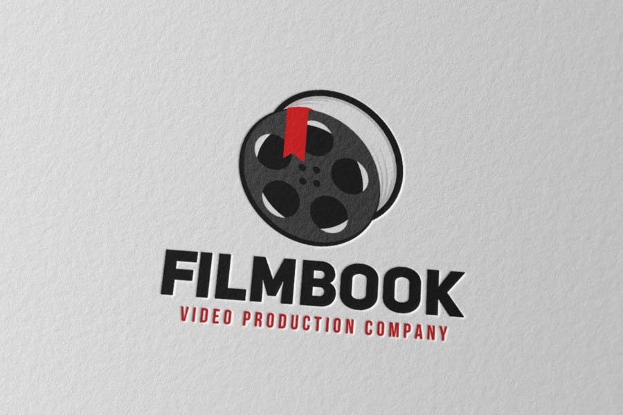 Film Book Logo Design Template