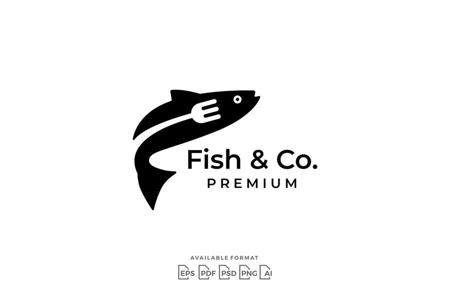Fish Restauramt Logo Template