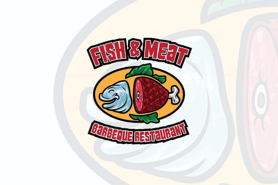 Fish Restaurant Logotype