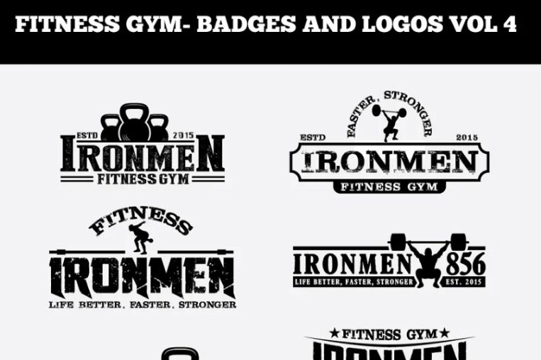 Fitness Gym Logos and Badges