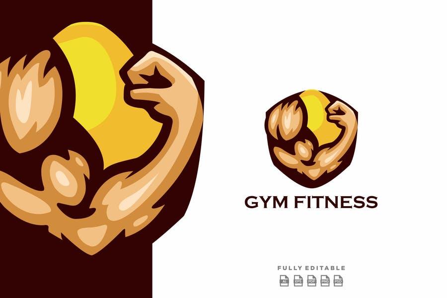 Fitness Logo Illustration Logotype