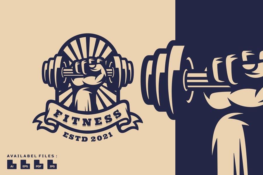 Fitness Logo Mascot Template