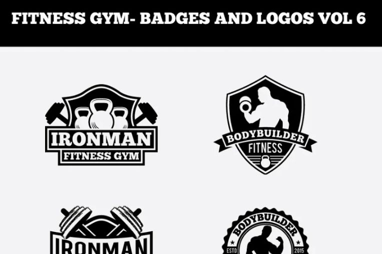 Fitness Logos and Badges Design