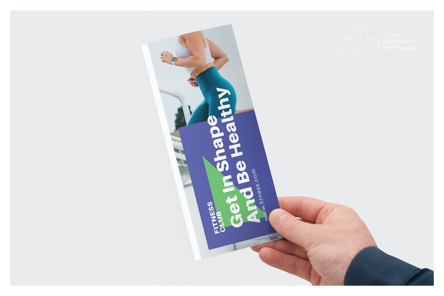 Fitness Tri Fold Brochure Template