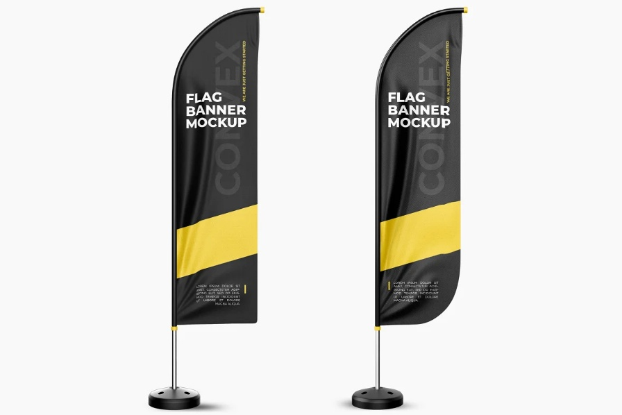 20+ Best Feather Flag Mockup PSD Download