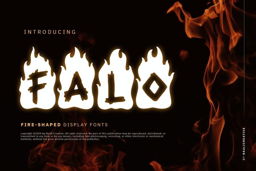 Flaming Decorative fonts