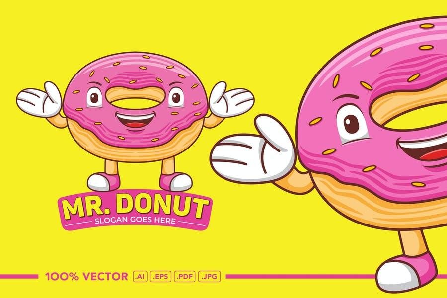 Flat Donut Illustration