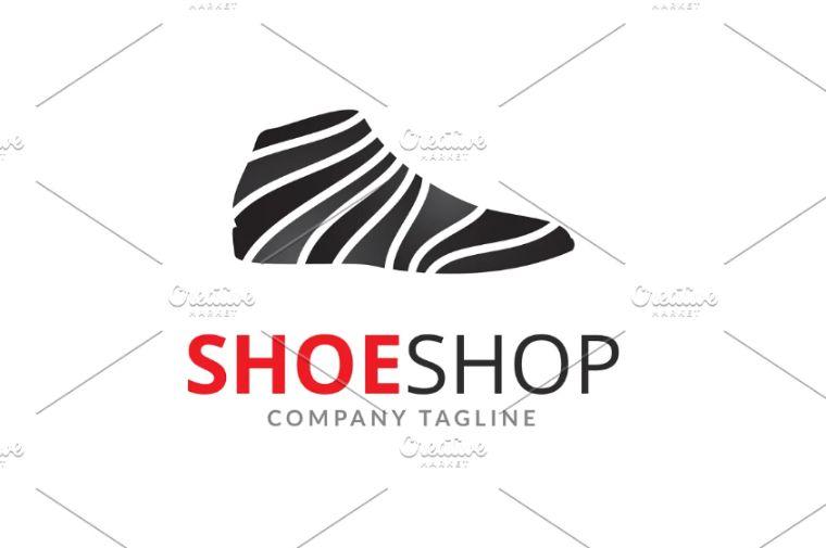 Flat Shoe Logo Template