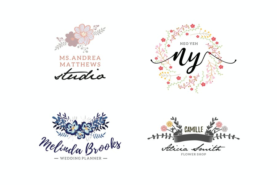 Floral Business Logo Templates
