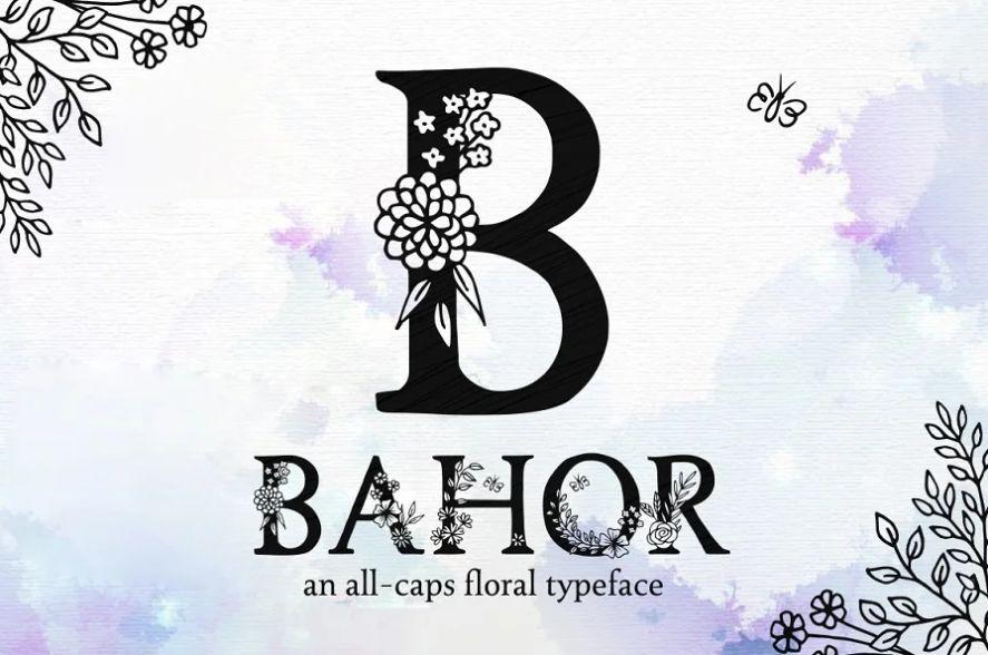 Floral Decoration Typeface