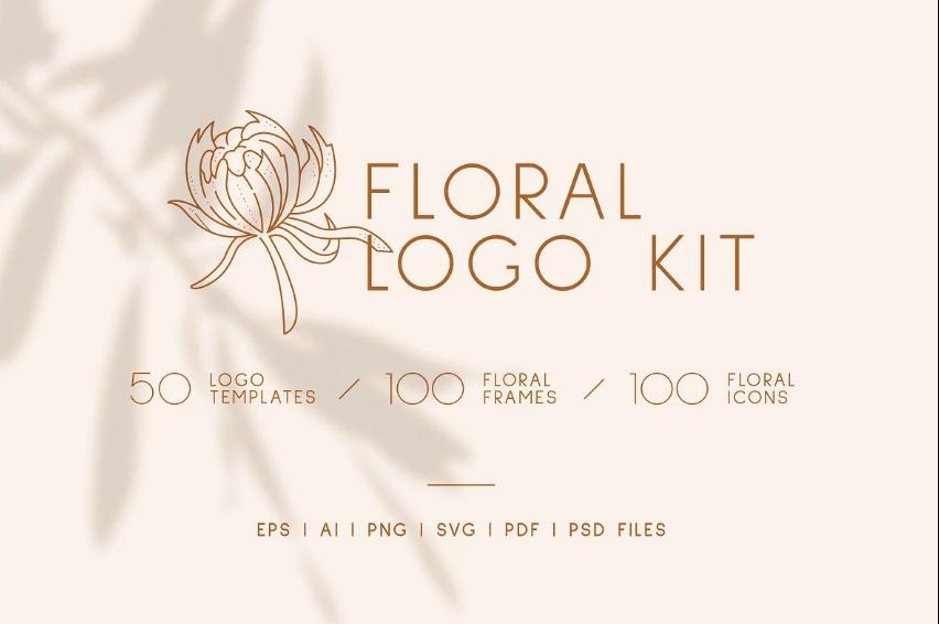 Floral Wedding Identity Logo